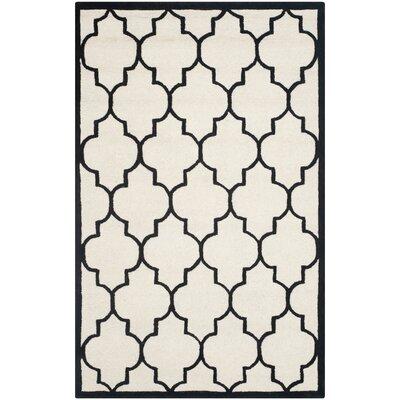 Charlenne Ivory / Black Area Rug Rug Size: 3 x 5