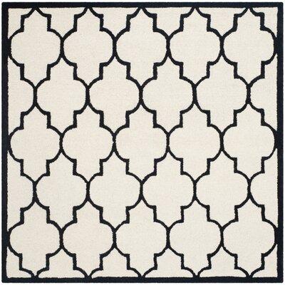 Martins Ivory / Black Area Rug Rug Size: Square 6'