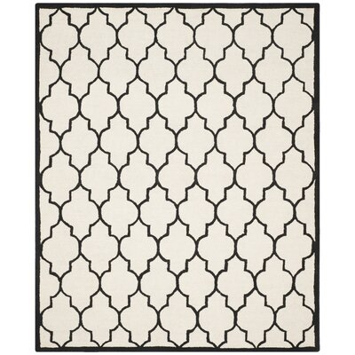 Martins Ivory / Black Area Rug Rug Size: 8' x 10'