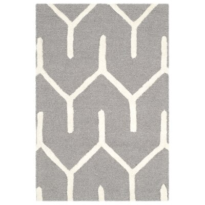 Martins Dark Gray / Ivory Area Rug Rug Size: 2 x 3