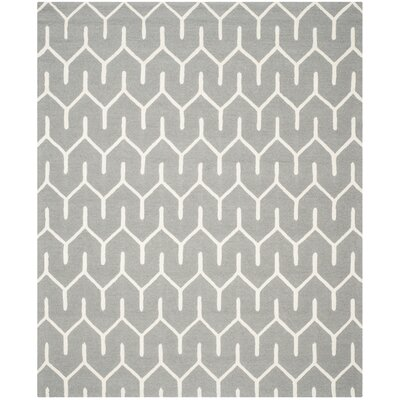 Martins Dark Gray / Ivory Area Rug Rug Size: 3 x 5