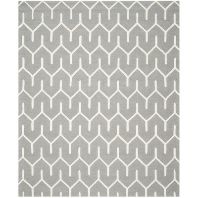 Martins Dark Gray / Ivory Area Rug Rug Size: 6 x 9