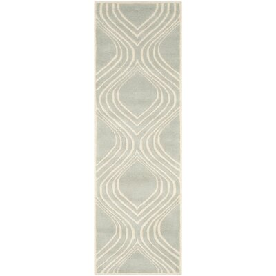 Wilkin Gray/Ivory Area Rug Rug Size: Runner 23 x 7