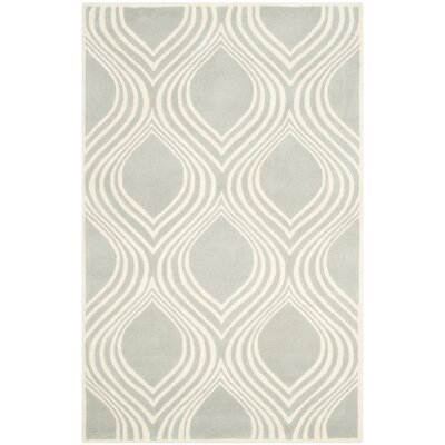 Wilkin Gray/Ivory Area Rug Rug Size: 5 x 8