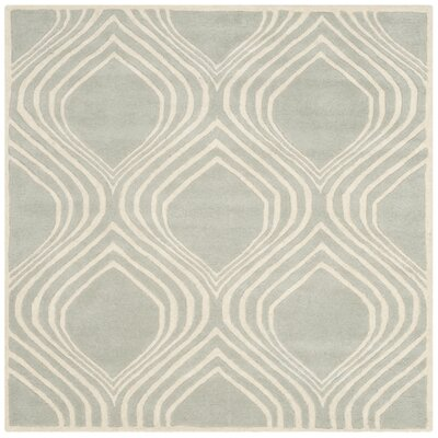 Wilkin Gray/Ivory Area Rug Rug Size: Square 5