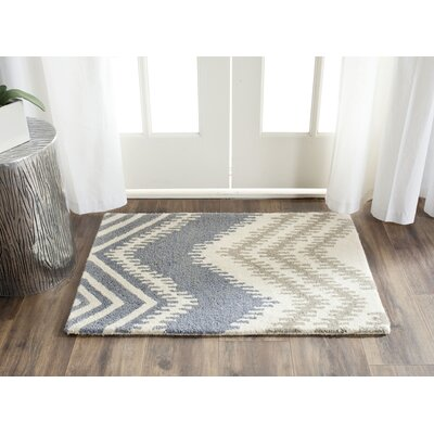 Hodges Blue/Ivory Area Rug Rug Size: Rectangle 2 x 3