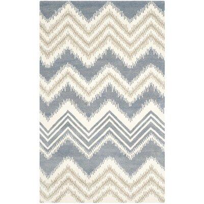 Hodges Blue/Ivory Area Rug Rug Size: 4 x 6