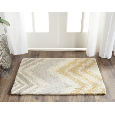 Hodges Gray/Gold Area Rug Rug Size: 2 x 3
