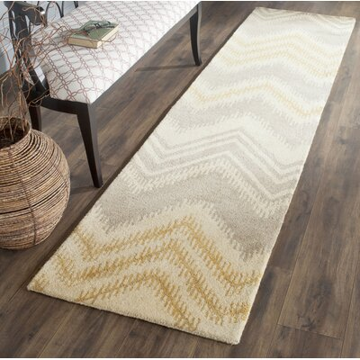 Hodges Gray/Gold Area Rug Rug Size: Runner 23 x 9
