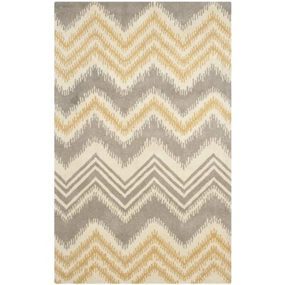 Hodges Gray/Gold Area Rug Rug Size: 5 x 8