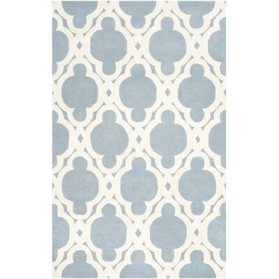Wilkin Blue/Ivory Area Rug Rug Size: Rectangle 5 x 8