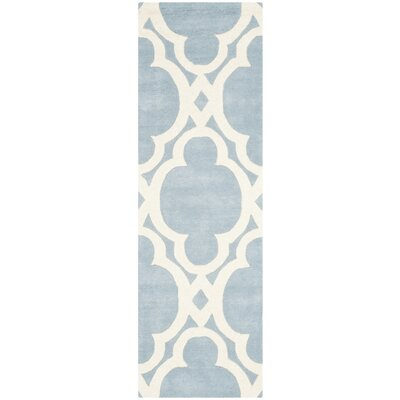 Wilkin Blue/Ivory Area Rug Rug Size: Runner 23 x 7