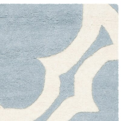 Wilkin Blue/Ivory Area Rug Rug Size: Round 5