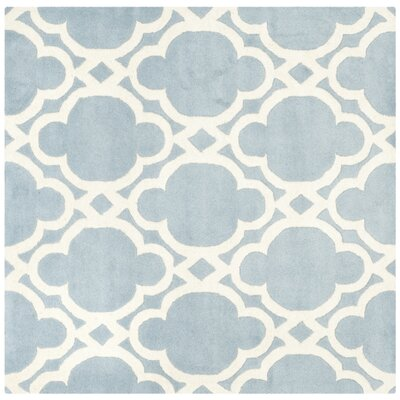 Wilkin Blue/Ivory Area Rug Rug Size: Square 5