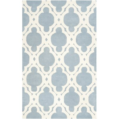 Wilkin Blue/Ivory Area Rug Rug Size: 6 x 9