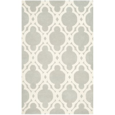 Wilkin Hand-Woven Wool Gray/Ivory Area Rug Rug Size: Rectangle 4 x 6