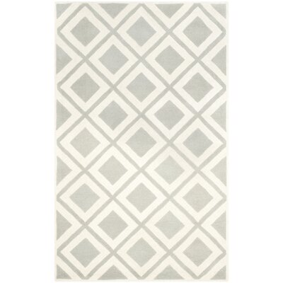 Wilkin Gray/Ivory Area Rug Rug Size: 3 x 5