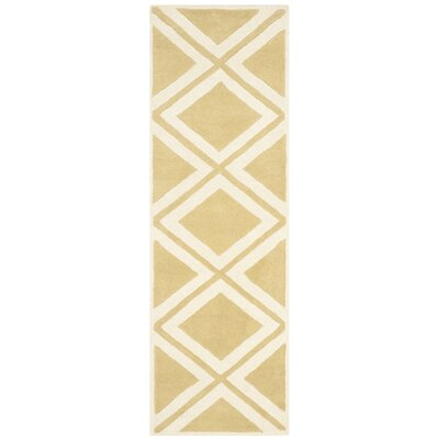 Wilkin Gold/Ivory Area Rug Rug Size: Runner 23 x 7
