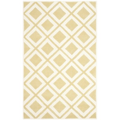 Wilkin Gold/Ivory Area Rug Rug Size: 4 x 6