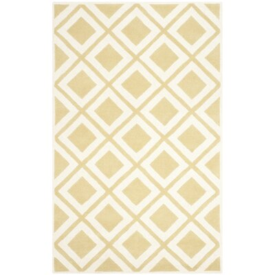 Wilkin Gold/Ivory Area Rug Rug Size: 6 x 9