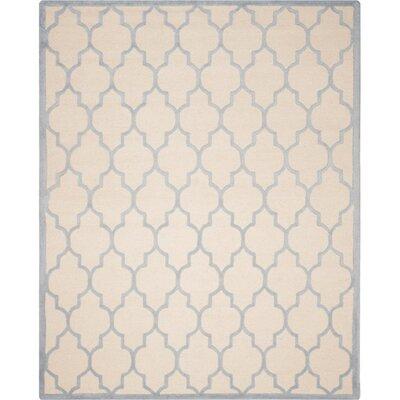 Charlenne Ivory/Light Blue Area Rug Rug Size: 4 x 6