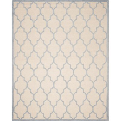 Martins Ivory/Light Blue Area Rug Rug Size: 8 x 10