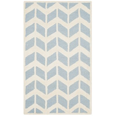 Martins Blue/Ivory Area Rug Rug Size: Rectangle 4 x 6