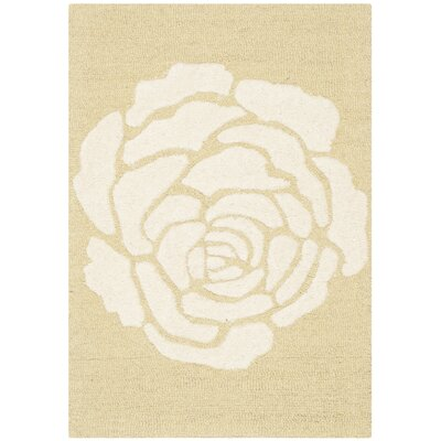Martins Light Gold/Ivory Area Rug Rug Size: 2 x 3