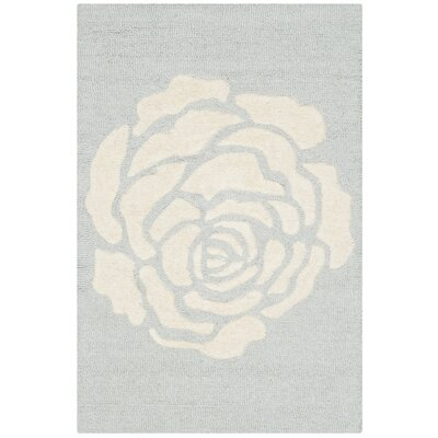 Martins Gray/Ivory Area Rug Rug Size: 5 x 8