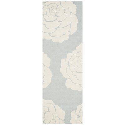 Martins Gray/Ivory Area Rug Rug Size: Runner 26 x 8