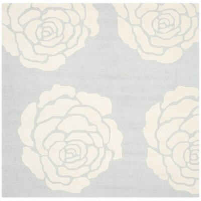 Martins Gray/Ivory Area Rug Rug Size: Square 6