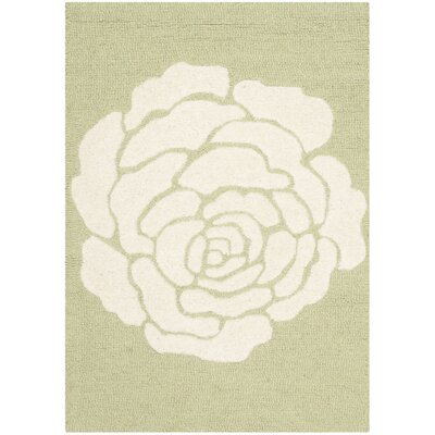 Martins Lime/Ivory Area Rug Rug Size: Rectangle 2 x 3