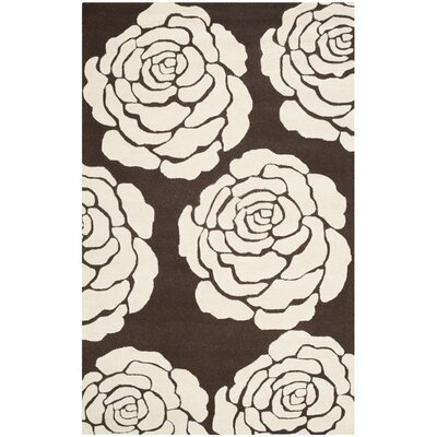 Martins Brown/Ivory Area Rug Rug Size: 5 x 8