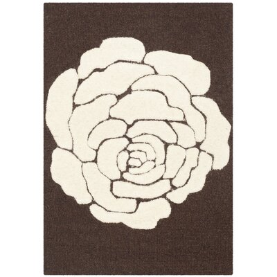 Martins Brown/Ivory Area Rug Rug Size: Rectangle 2 x 3