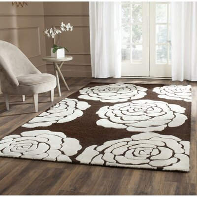 Martins Brown/Ivory Area Rug Rug Size: Rectangle 4 x 6