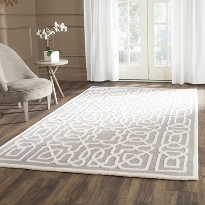 Martins Silver / Ivory Area Rug Rug Size: Rectangle 6 x 9