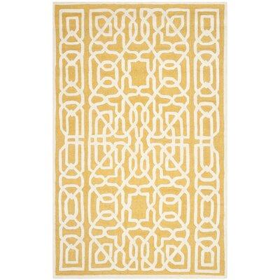 Martins Gold / Ivory Area Rug Rug Size: 4 x 6