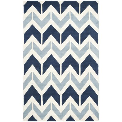 Wilkin Dark Blue / Light Blue Area Rug Rug Size: 4 x 6