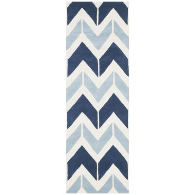 Wilkin Dark Blue / Light Blue Area Rug Rug Size: Runner 23 x 7
