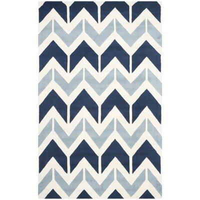 Wilkin Dark Blue / Light Blue Area Rug Rug Size: 3 x 5