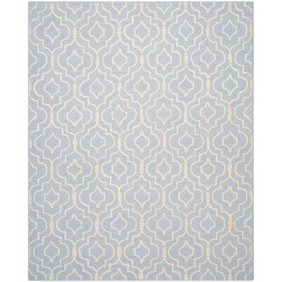 Martins Light Blue & Ivory Area Rug Rug Size: 9 x 12
