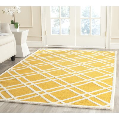 Martins Gold / Ivory Area Rug Rug Size: Rectangle 3 x 5