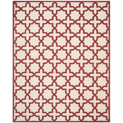 Martins Ivory / Rust Area Rug Rug Size: Rectangle 8 x 10