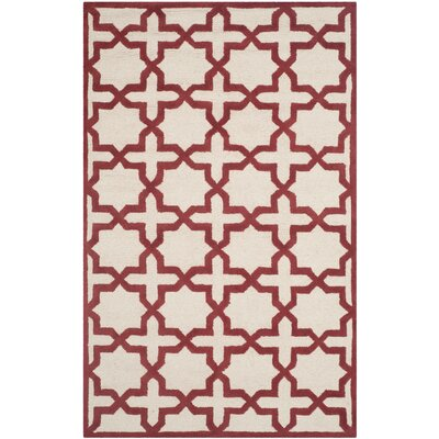 Martins Ivory / Rust Area Rug Rug Size: Rectangle 4 x 6