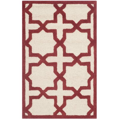 Martins Ivory / Rust Area Rug Rug Size: Rectangle 26 x 4