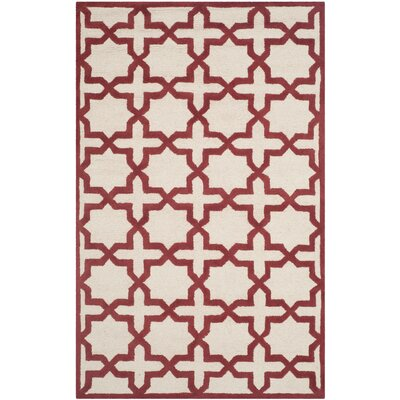 Martins Ivory / Rust Area Rug Rug Size: 5 x 8