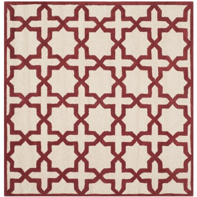 Martins Ivory / Rust Area Rug Rug Size: Square 6