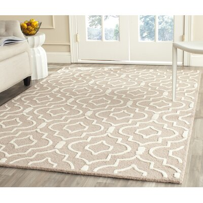 Martins Beige / Ivory Area Rug Rug Size: Rectangle 4 x 6