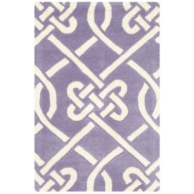 Wilkin Purple / Ivory Area Rug Rug Size: 2 x 3
