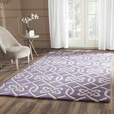 Wilkin Purple / Ivory Area Rug Rug Size: Rectangle 4 x 6
